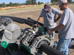 Troon Country Club HDPE pipe install