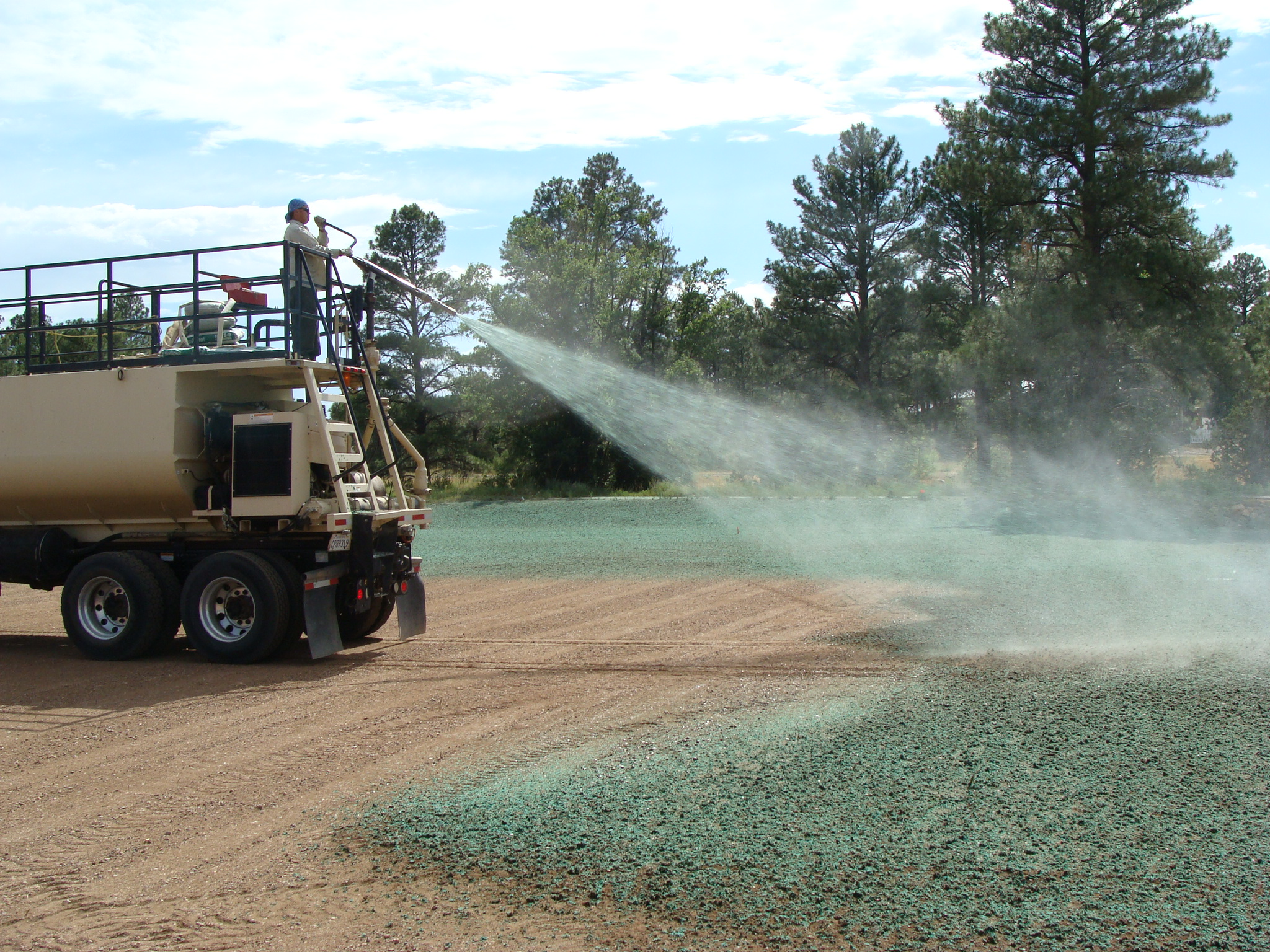 Nicklaus Park hydro-seeding