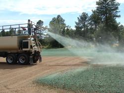 Nicklaus Park hydro-seeding