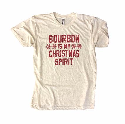 Bourbon is my Christmas Spirit Tee