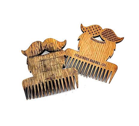 Barrel Wood Beard Comb