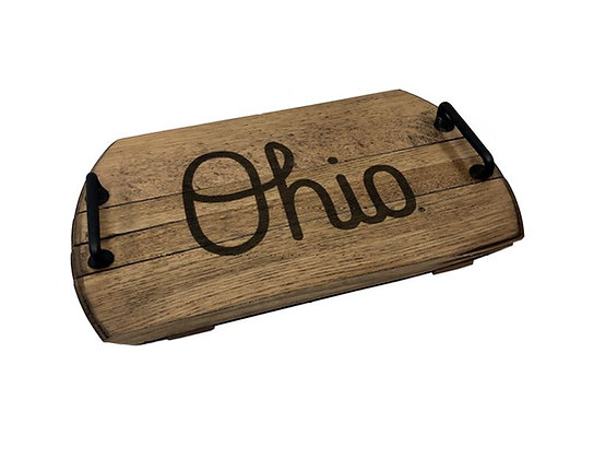 Script Ohio Serving Tray