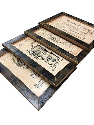 Complete Set of 4 Patent Prints