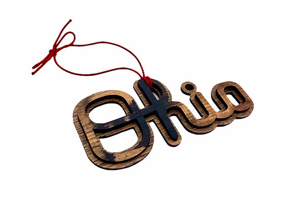 Official Script Ohio Ornament