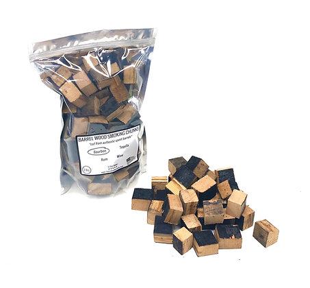 Barrel Chunks for BBQ Smoking