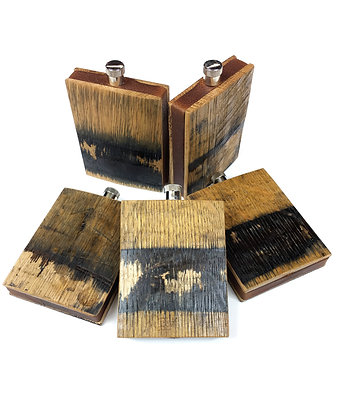 (5) Barrel Wood Flask (click to add additional)