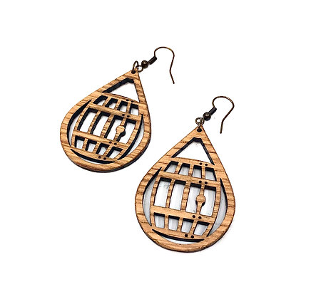 Barrel Drop Earrings
