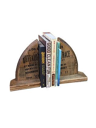 Barrel Head Book Ends