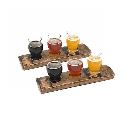 Barrel Stave Beer Flight Set(2 Beginner)