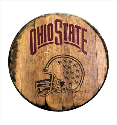 Ohio State Football Barrel Head