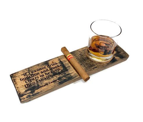 All-In-One Cigar Caddy w/ Rocks Glass