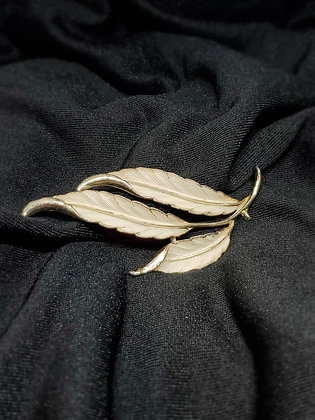 White Feather Silver Broach