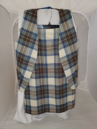 Set- Tartan Skirt and Vest