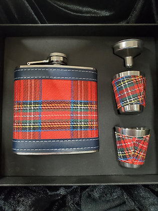 Royal Stewart Flask Set