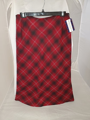 Evan Picone' Arygle Plaid Skirt