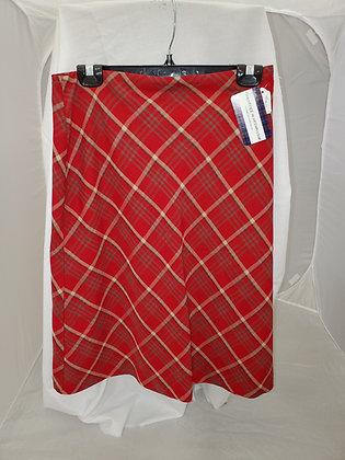 Argyle' Redcheck Skirt