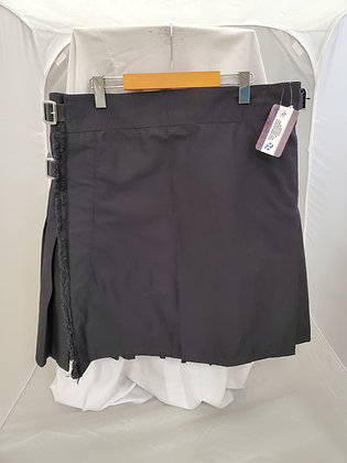 Black Utility Kilt Plain