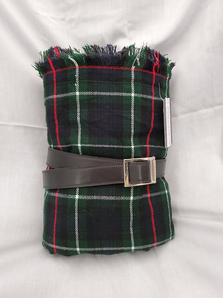 Mackenzie Great Kilt with Belt, Wool Acrylic Blend