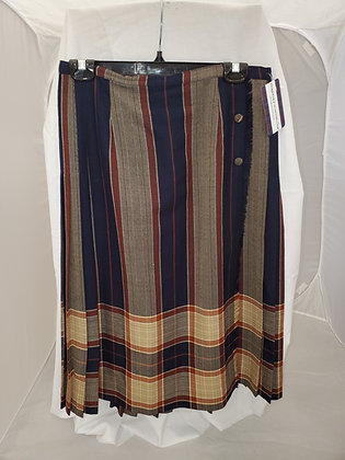 Navy and Brown Kilt