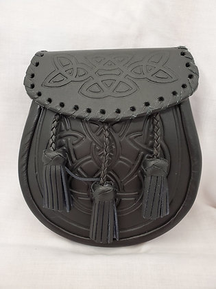 Embossed Leather Sporran Laced