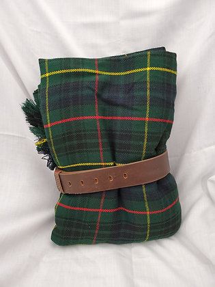 Hunting Stewart Great Kilt with Belt, Wool Acrylic Blend