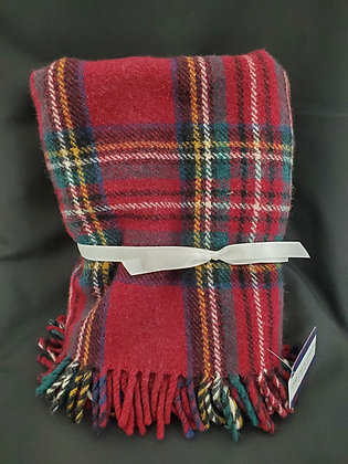 Plaid Pure Wool Blanket, Made in Scotland