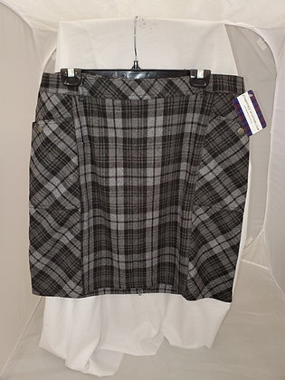Grey Black Watch Skirt