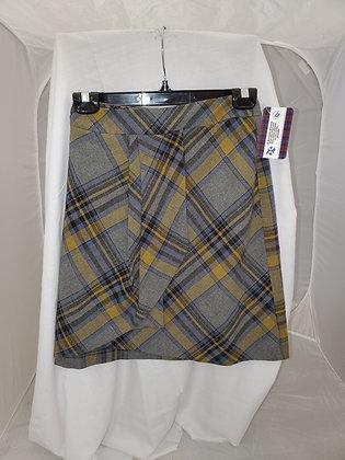 Bandolera Wool Blend Tartan Skirt