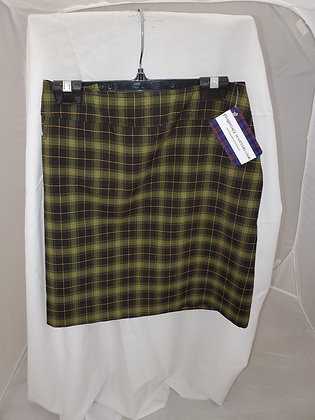 Emblem Plaid Skirt