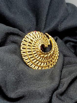 Abstract Circle  Gold Broach