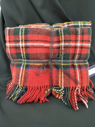 Royal Stewart Pure Wool Blanket, Made in Scotland