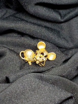 Mouse Gold  Pin