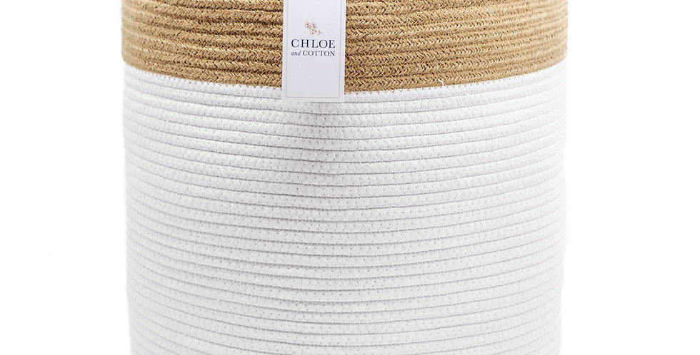 "White Jute Extra Large - 19"" H x 16"" D"