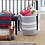 "Thumbnail: Gray White Extra Large Woven Storage Basket - 19"" H x 16""D"
