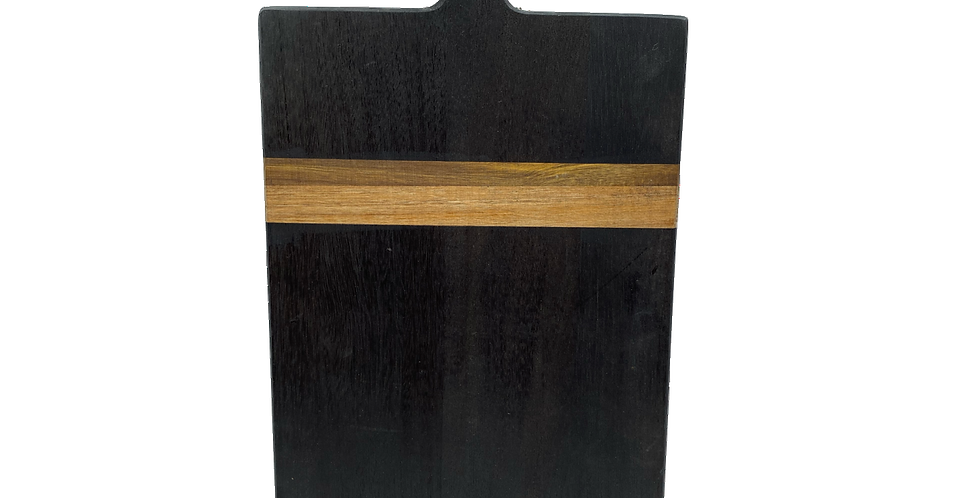 Black Rectangular Acacia Wood Bread Board 22.5 inch
