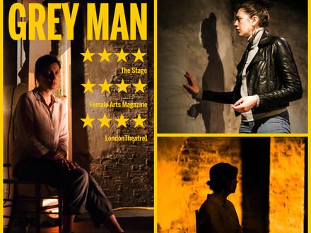 GREY MAN Theatre503 Reviews Montage
