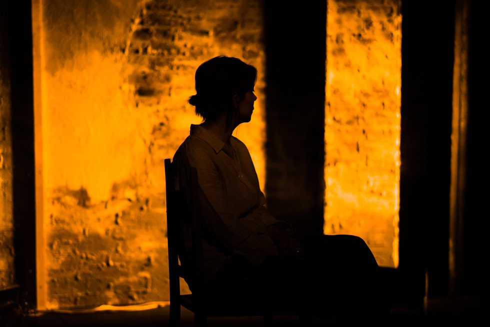 Kristin Hutchinson in GREY MAN (photo by Nick Rutter)