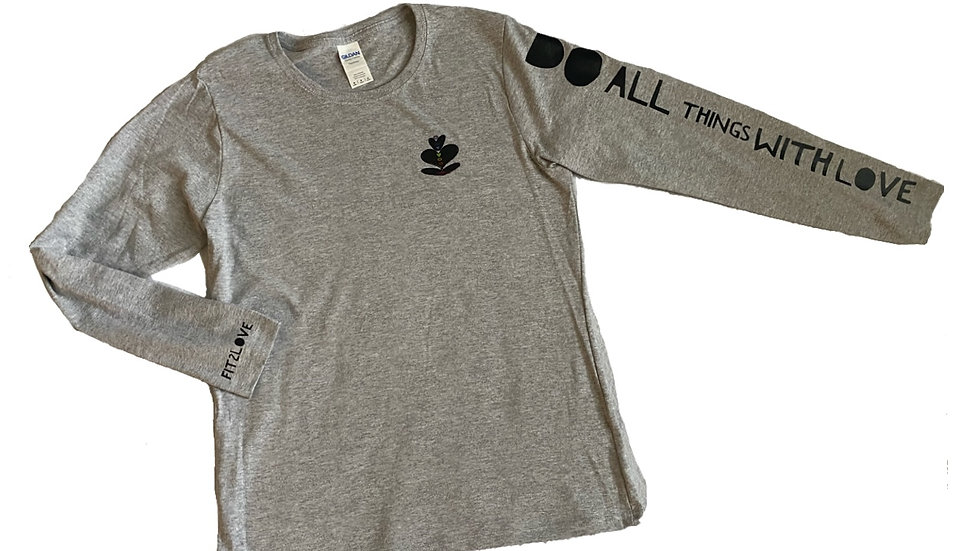 """Fit2Love """"Do All Things With Love""""xOG long sleeve"""