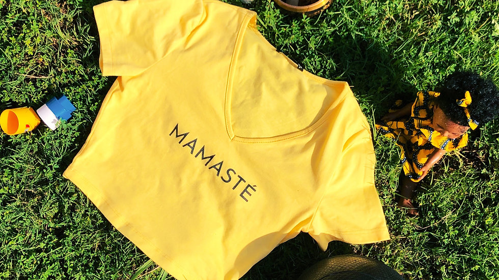 MAMASTÉ  Fitted Crop Top (Yellow)