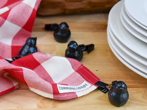 Little Bird Tablecloth Weights | Cast Iron Tablecloth Weights | Tablecloth Clips