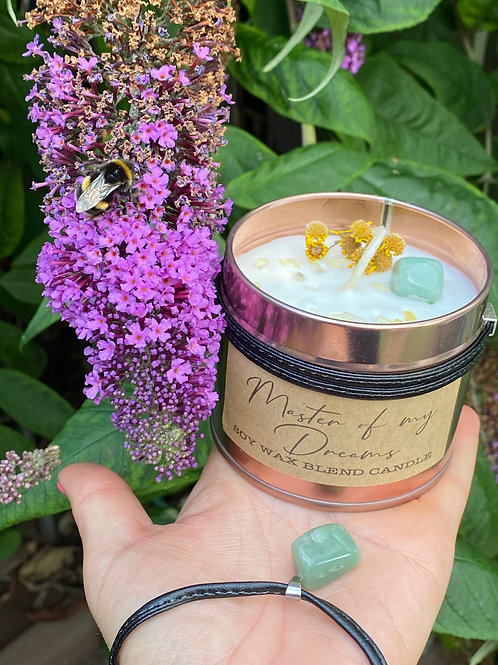 Master of my Dreams - Crystal & Scented Candle