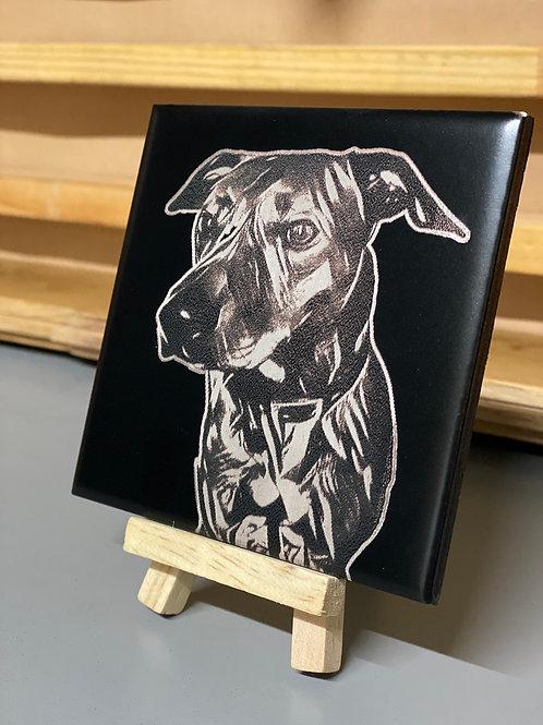 **PRE ORDER** Abstract Pet Portrait Tile