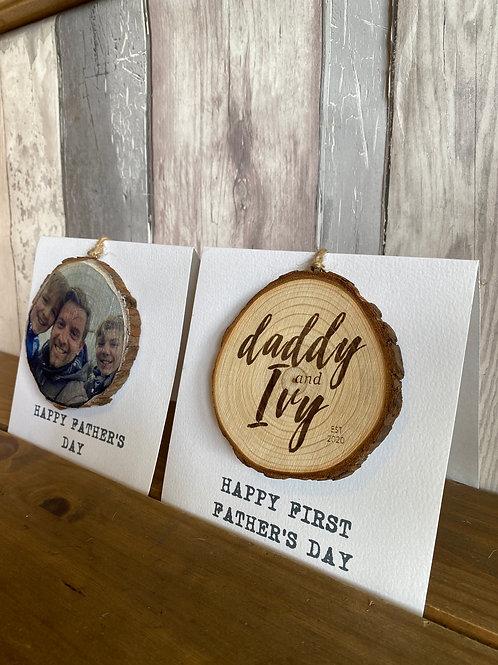 Personalised Greeting Cards - Engraved & Image wood Greetings card