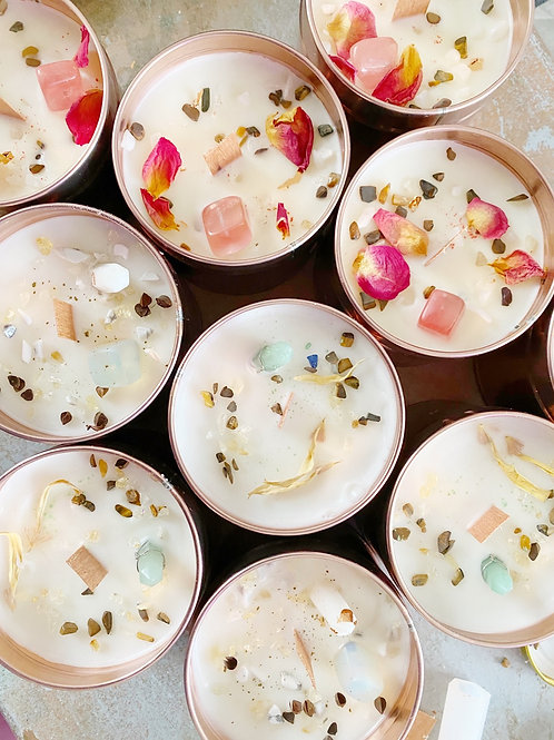 Cleansed Crystal Scented Candles
