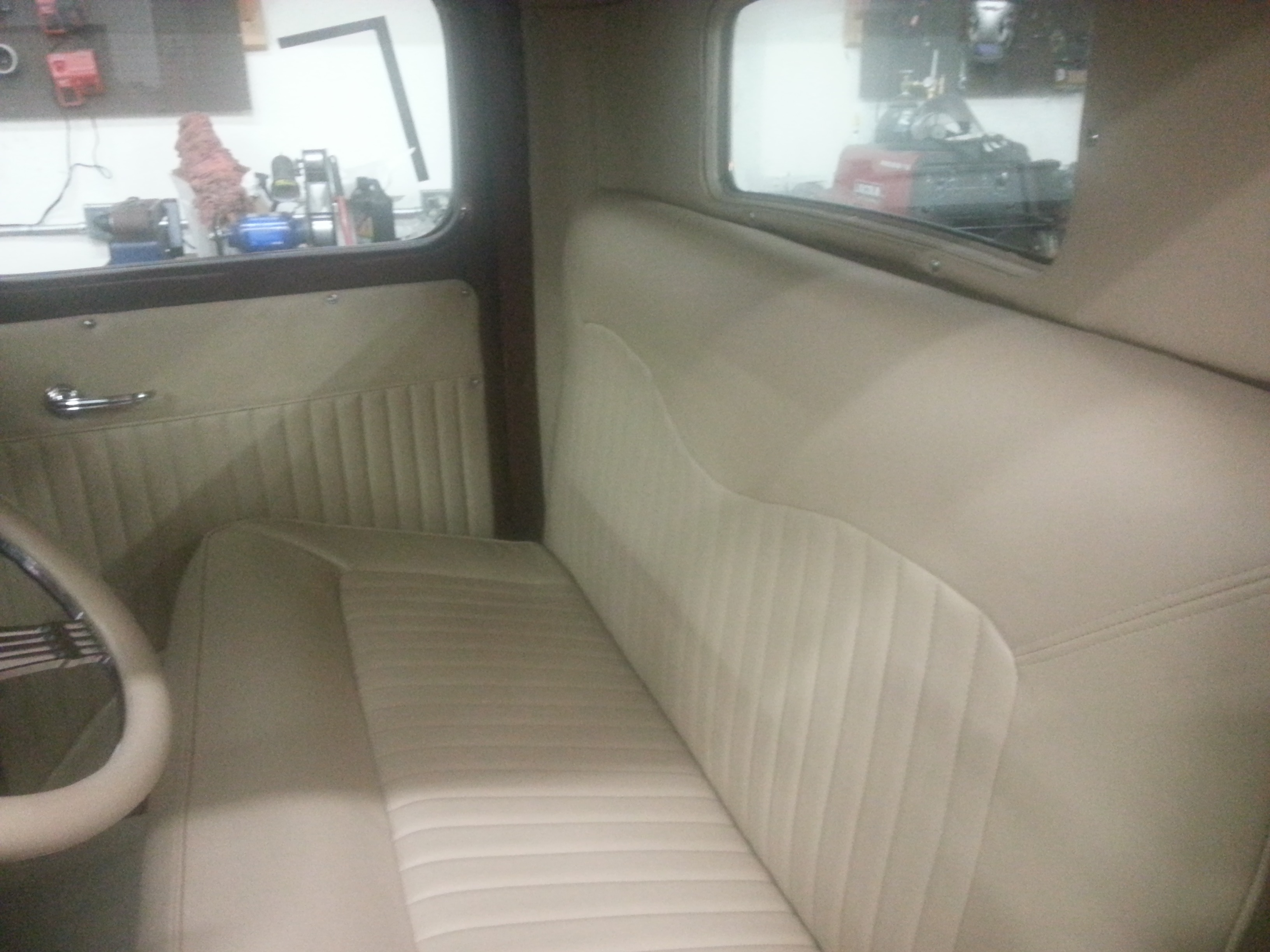 Backseat re-upholstry