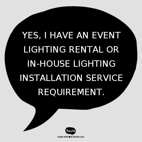 Event Lighting Rental - Lighting Integrator | Contact Us - Electric Dreamz