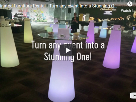 Wow your audience with Illuminated and LED furniture at events