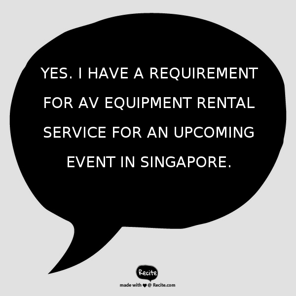 AV Equipment Rental - Electric Dreamz, Singapore