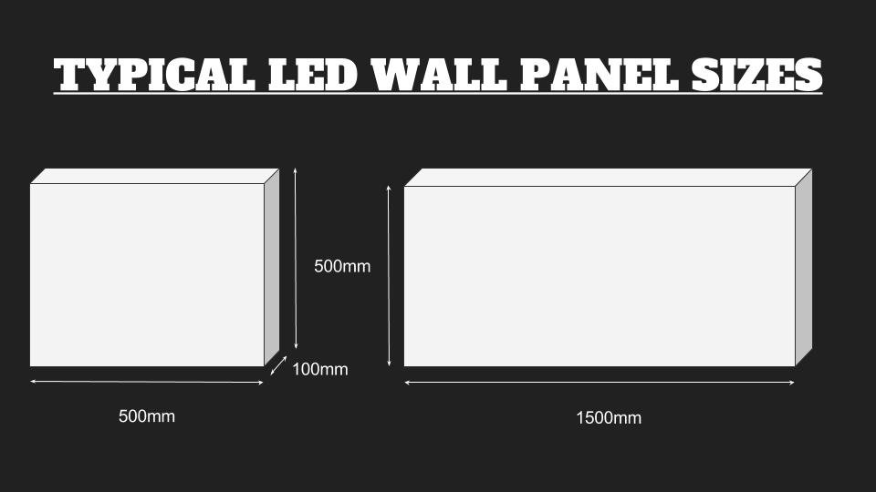 LED video wall typical panel sizes
