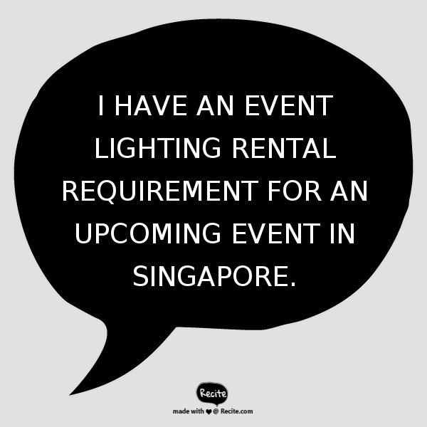 Event Lighting Rental Singapore - Contact Us